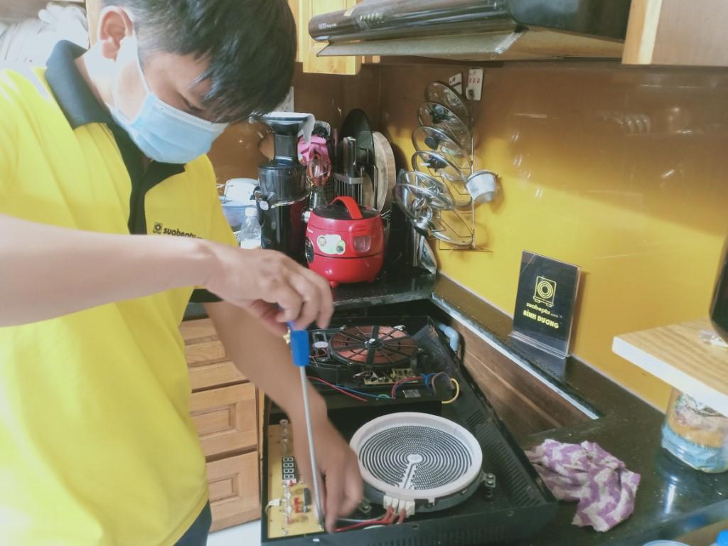 Hướng dẫn sửa bếp hồng ngoại Indufix bị lỗi chập điện