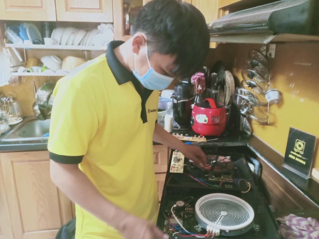 Hướng dẫn sửa bếp hồng ngoại Midea bị chập điện