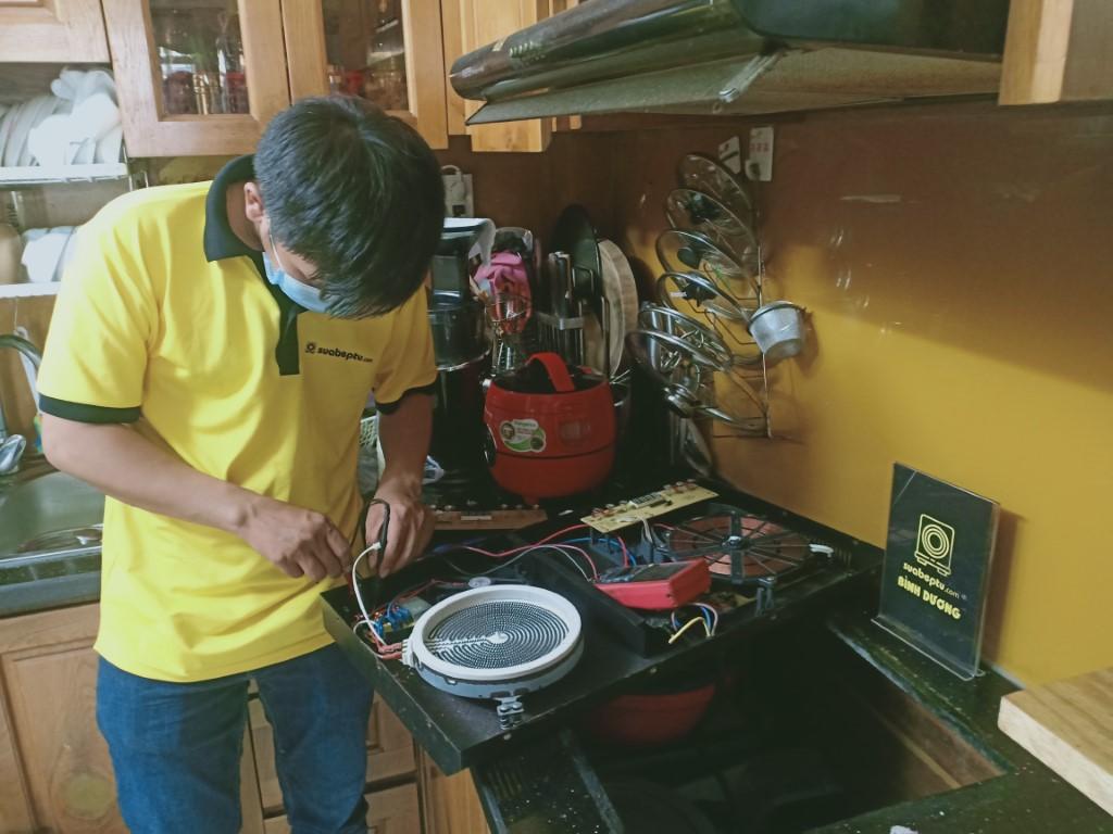 Hướng dẫn sửa bếp hồng ngoại Indufix bị chập điện