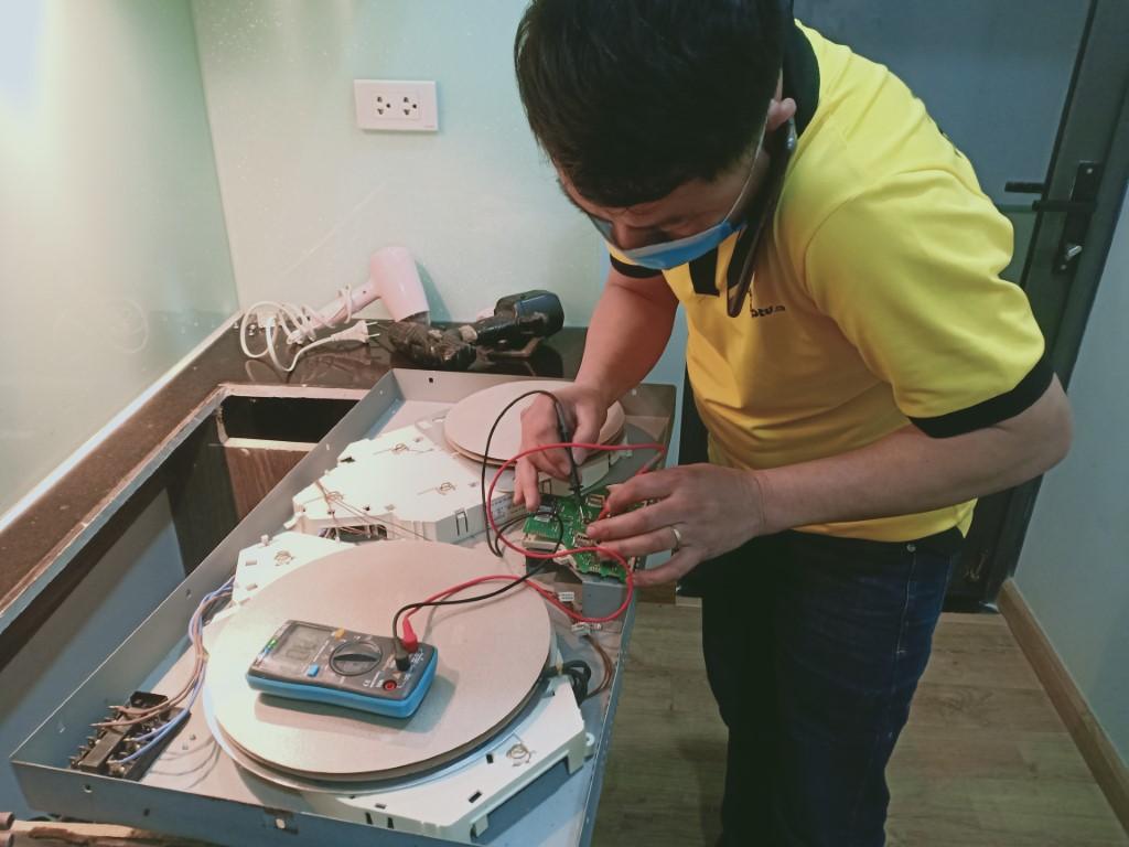 Hướng dẫn sửa bếp hồng ngoại Miele bị chập điện